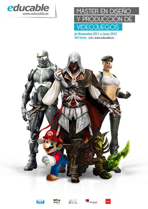 Cartel Curso videojuegos